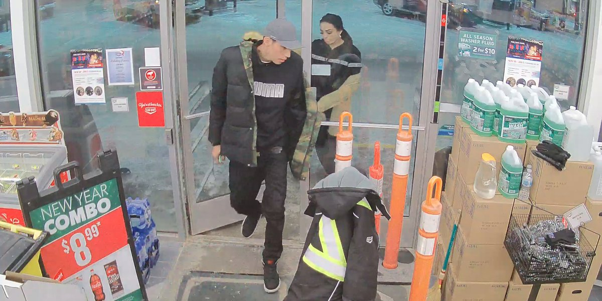 Let's start 2020 by seeing how fast we can identify these 2 suspects. Our guess? We'll have the names by end of day. These 2 entered a business on Brookside Blvd, took keys from an employee's jacket & then stole his vehicle. If you can help ID these 2, call #rcmpmb @ 204-888-0358