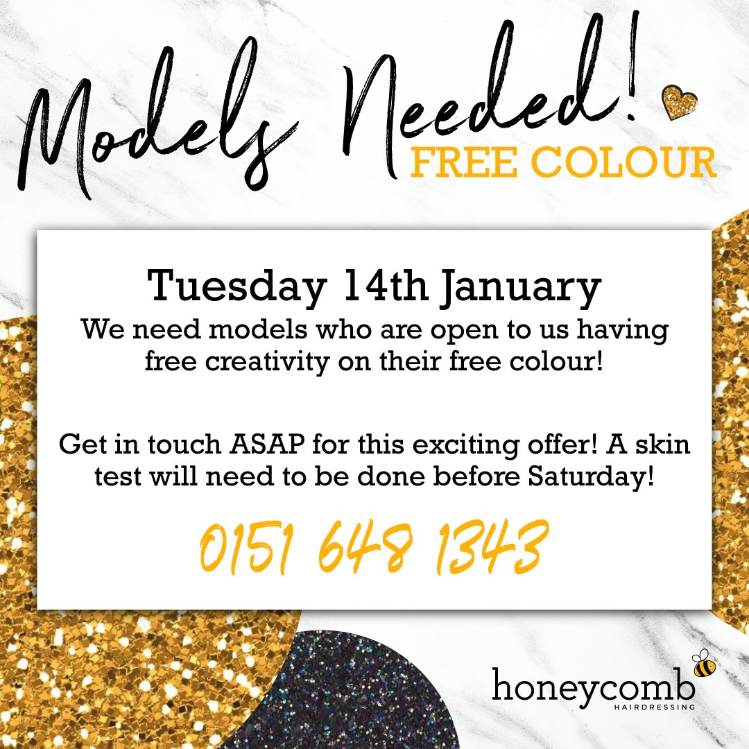 We're looking for hair models who are open to let our colour creativity flow! 💁♀️ . Drop us a DM, inbox or call if you are interested 🐝 . . . #honeycomb #beehairhappy #wellapro #wellaprofessionals #models #hairmodels #colouredhair #hairstylist #hair #model #hairmodel #uk