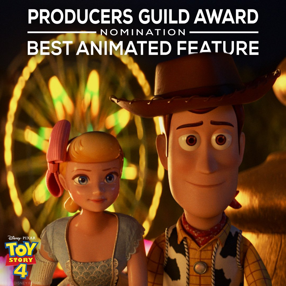 Toy Story 4 is a Producers Guild of America nominee for Best Animated Feature! https://t.co/MgCUu93v12
