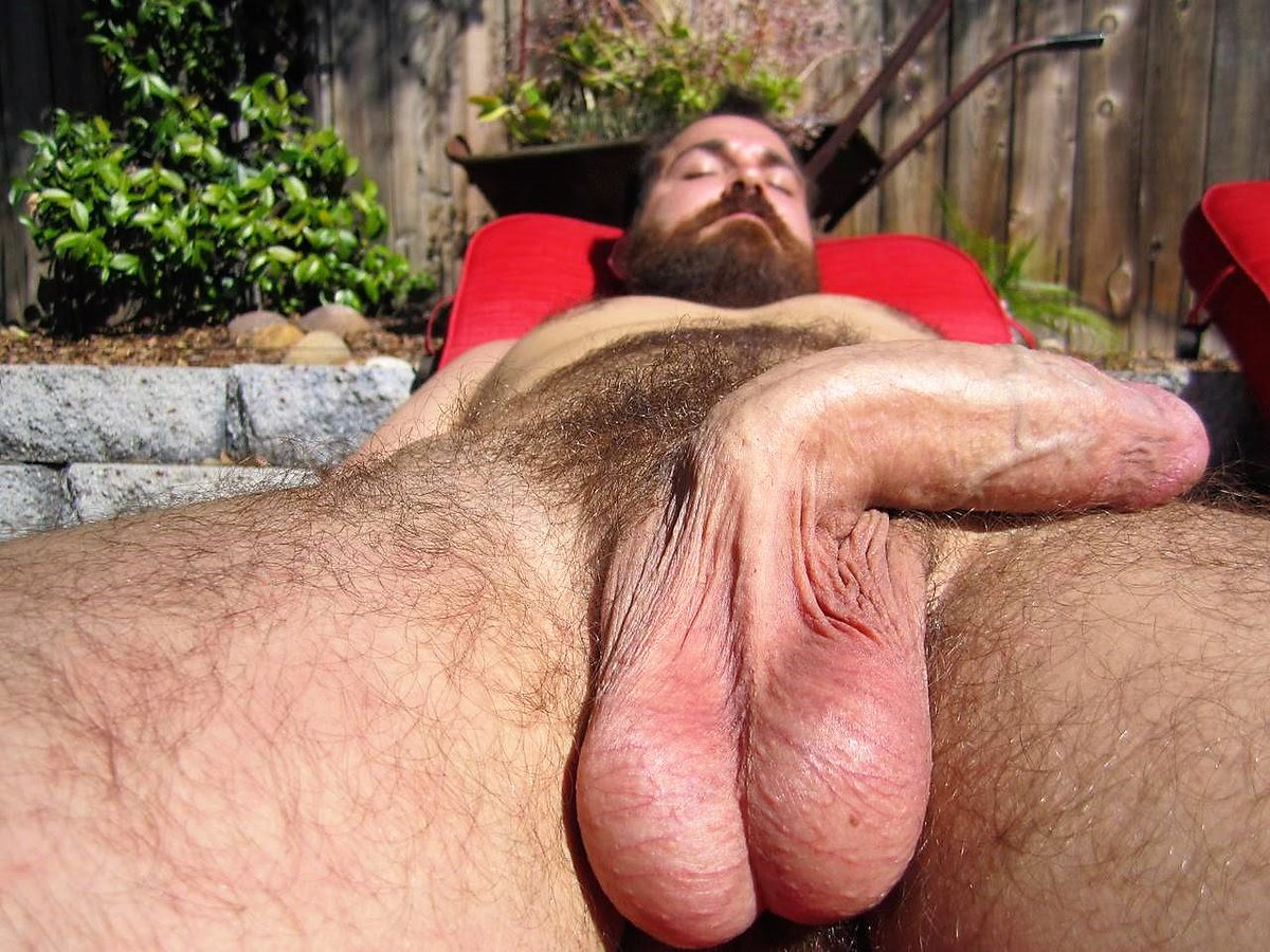 Hairy men get balls busted