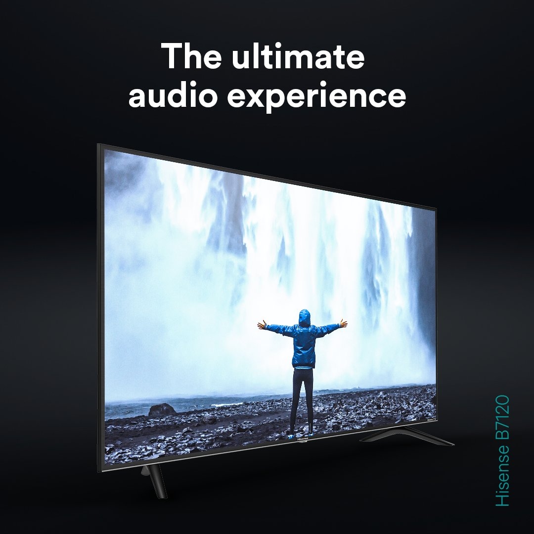 Sound? Perfected it 😉  The Hisense and @RokuUK B7120 TV gives you the ultimate audio experience 🔊  Get yours today 👉 http://bit.ly/Hi-B7120