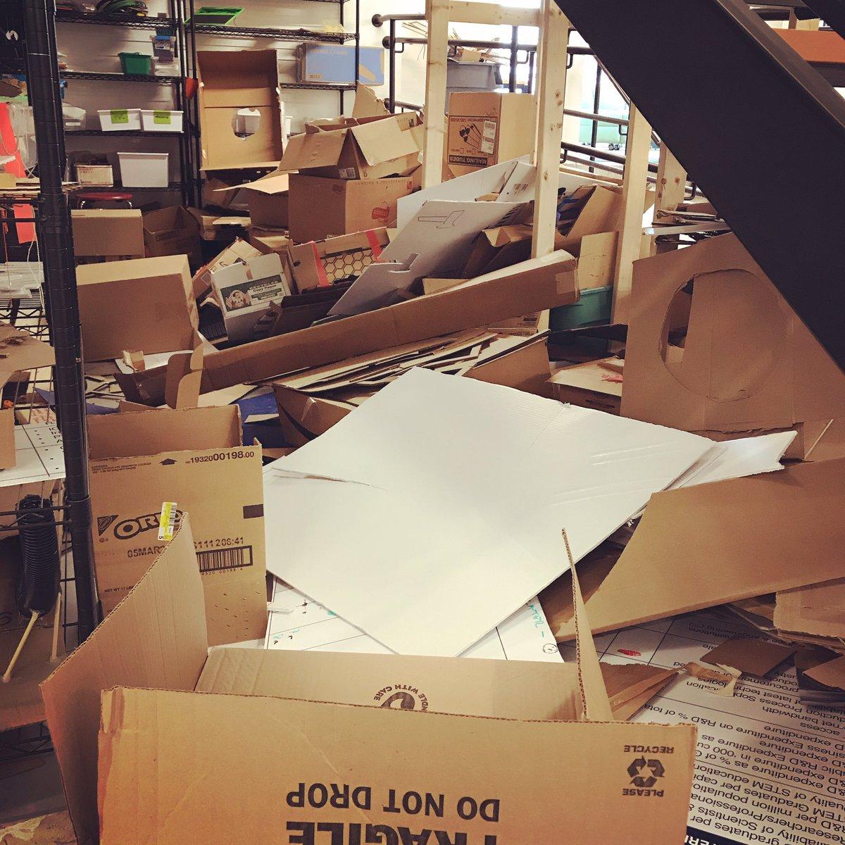 I think we've reached peak cardboard 😳 #ilab #innovationlab #makerspace #cardboard