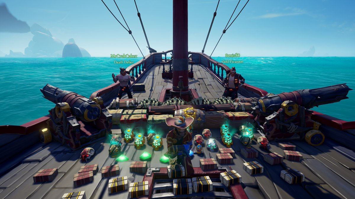 Had an amazing time sailing with these two incredible streamers!  Make sure to check these guys out!  @SoxisG @MrCrabCakez   #TwitchFam #SeaOfThieves #BeMorePirate #SoTShot #GettingStacked #XboxShare