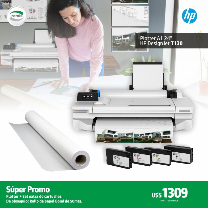 Nuevo HP DesignJet T130: Con juego extra de cartuchos y rollo de papel de obsequio, a un precio imperdible. U$S 1309. La impresora ideal para Arquitectos, Ingenieros, Diseñadores y estudiantes. Con un costo de impresión muy bajo calidad comprobada. Conexión de red, USB y WIFI. https://t.co/8KeJzTaGcZ