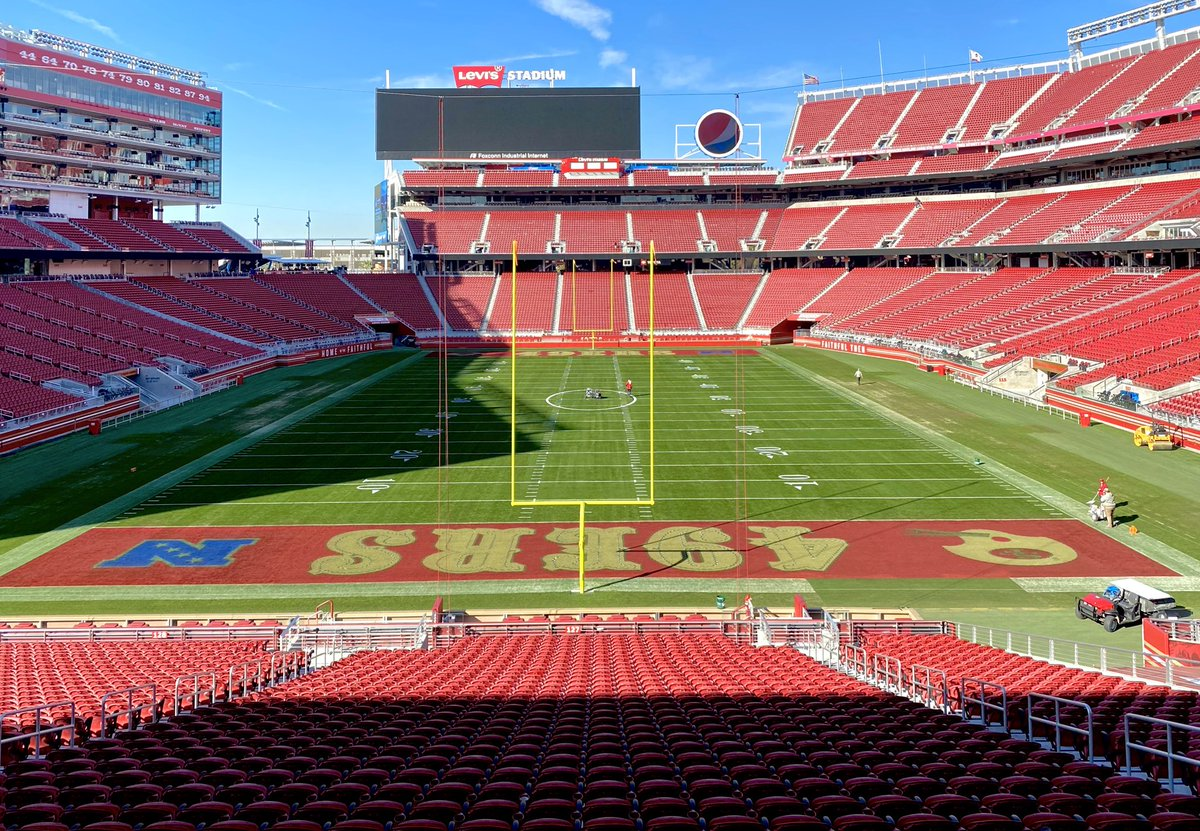 Levi's Stadium: 49ers paint end zones red for playoffs