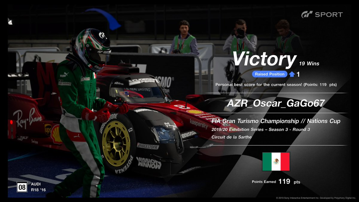 VICTORY! FIA Gran Turismo Championship // Nations Cup  #Mexico #SimRacing #GTSport #AZR https://t.co/pc89t7NqPF