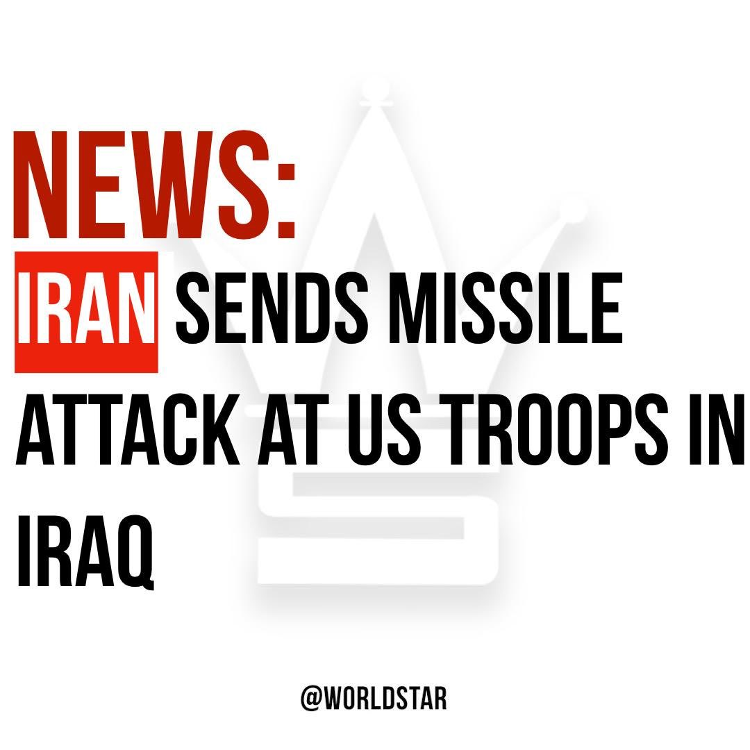 According to reports, #Iran has launched more than a dozen ballistic missiles on two Iraqi military bases which house US troops. Casualties have been reported. Thoughts? 😳😩🙏 @CNN