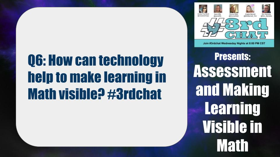 Q6: How can technology help to make learning in Math visible? #3rdchat