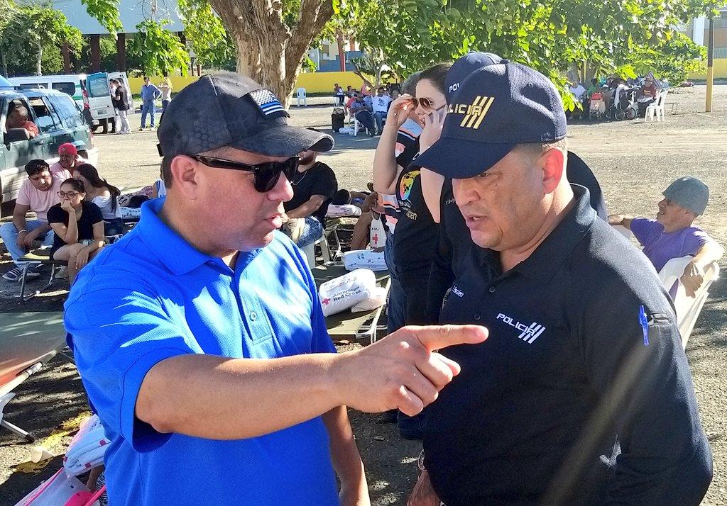 Hoy el comisionado Henry Escalera Rivera visitó el municipio de Ponce para verificar los planes de seguridad y ofrecer apoyo a las autoridades municipales. @wandavazquezg @Elmer_Roman_PR @DSPnoticias @fortalezapr