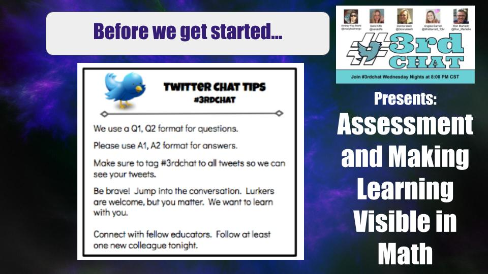 Before we get started... #3rdchat