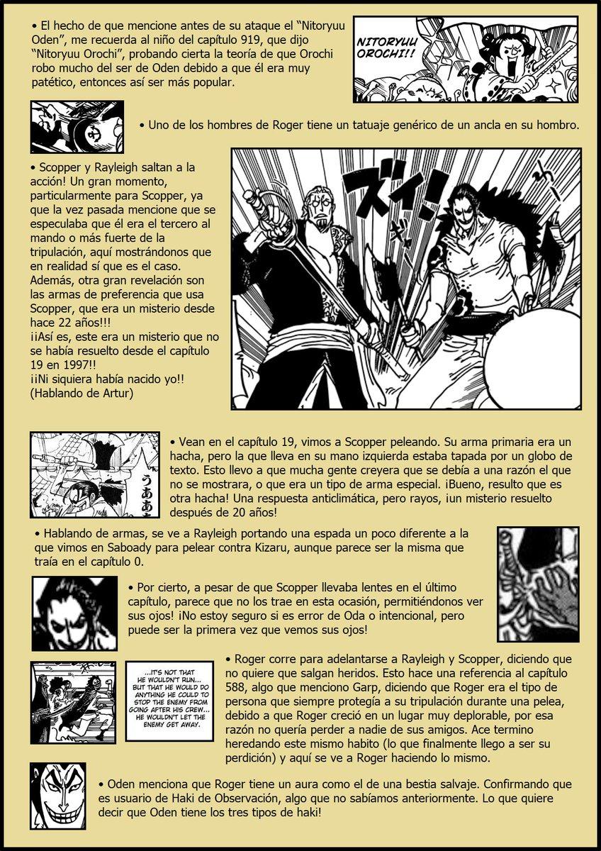 Secretos & Curiosidades - One Piece Manga 966 ENuTk8fXUAE5kvA