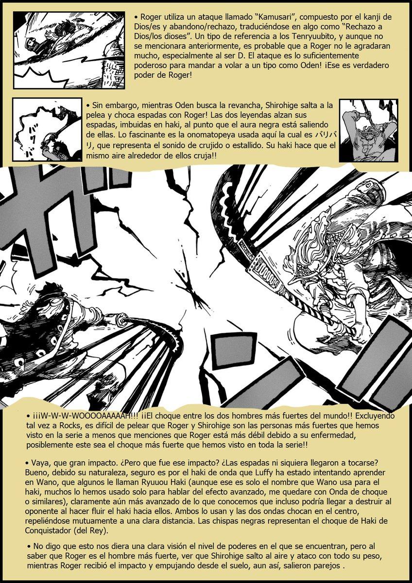 Secretos & Curiosidades - One Piece Manga 966 ENuTk8hX0AASR1V