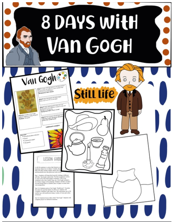 Love these Van Gogh activities from @designsbyum ampeduplearning.com/8-days-with-va…