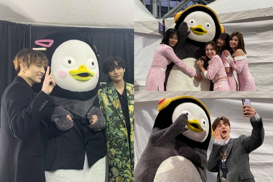 """Soompi على تويتر: """"#BTS, #TWICE, And #NUEST Have A Blast Taking Photos With  #Pengsoo https://t.co/bOgBlz55vn… """""""