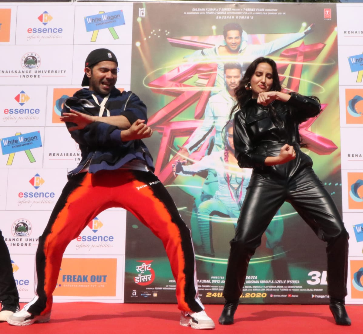 After promoting 'Street Dancer 3D' in #indore #varundhawan and #norafatehi are back in #mumbai  #varundhawanfans #nora #streetdancer3dpic.twitter.com/c4Cgw7hjOM