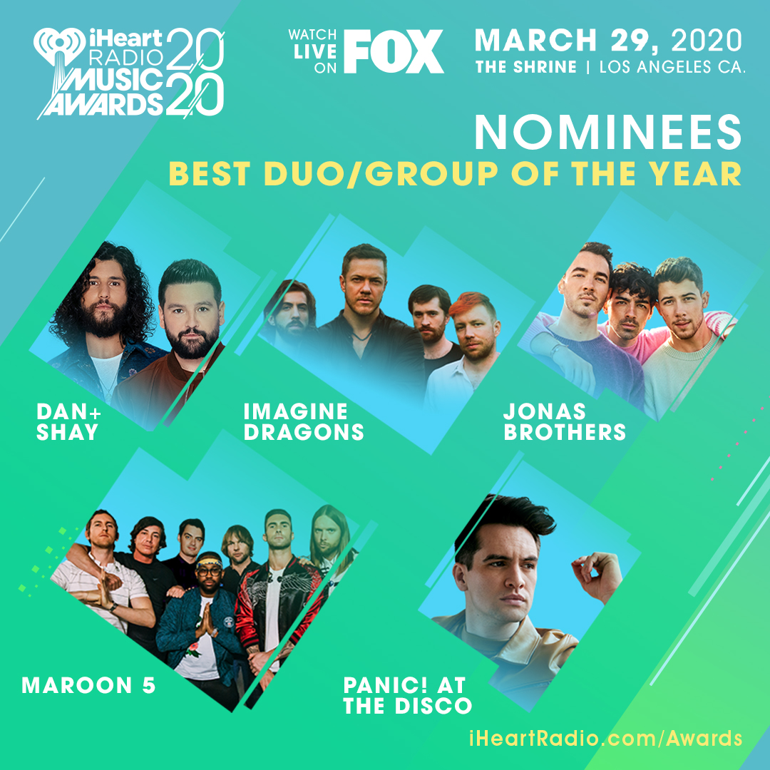 SO COOL. @DanAndShay up for Best Duo/Group Of The Year at our #iHeartAwards 🙌🏼