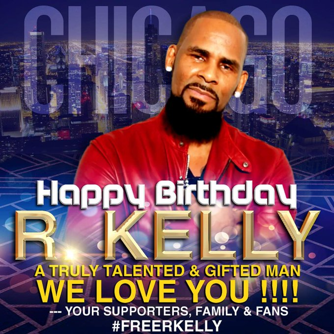 JUST WANT TO SAY HAPPY BIRTHDAY TO THE KING OF R&B R.KELLY