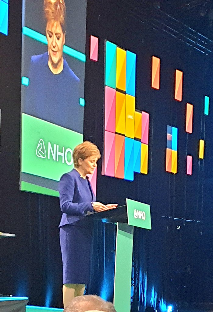 - No country can tackle climate change alone. Therefore we must collaborate, First Minister of Scotland @NicolaSturgeon says and speak warmly about Scottish and Norwegian partnership and the next COP-meeting in Glasgow. @SDGbergen