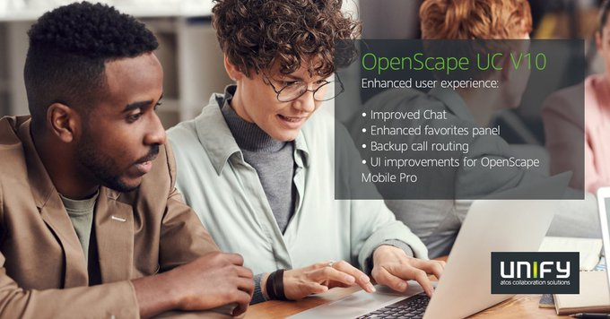 OpenScape UC V10 comes with enhanced client #UserExperience and improved mobile worker...