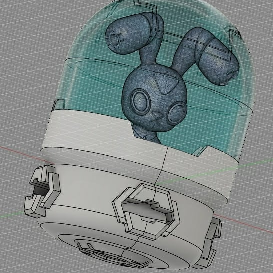 兔兔駕駛艙 #fusion360 #mecha #mech  #robot #transformers  #animals #rabbit #機甲 #機器人 #兔 #autodesk