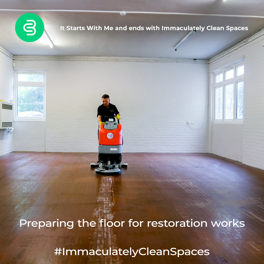 Here is a `before` image of the floor restoration job we have done. #ImmaculatelyCleanSpaces by @CleanbriteUK  #beforeandafter #satisfyingposts #cleaningcompany #transformationpic.twitter.com/riOZi2rYzJ