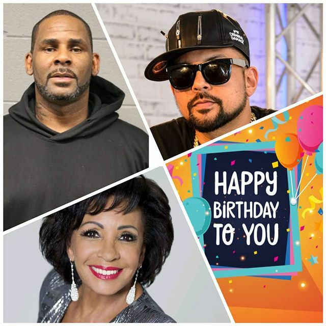 Happy birthday to : R. Kelly 51 Sean Paul 47 Shirley Bassey 83