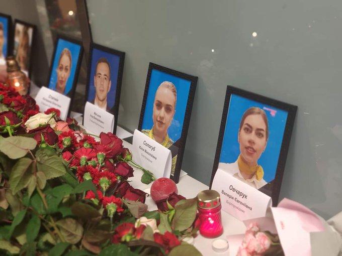 """Акція пам'яті жертв авіакатастрофи в Ірані відбувається в аеропорту """"Бориспіль"""" - Цензор.НЕТ 5269"""