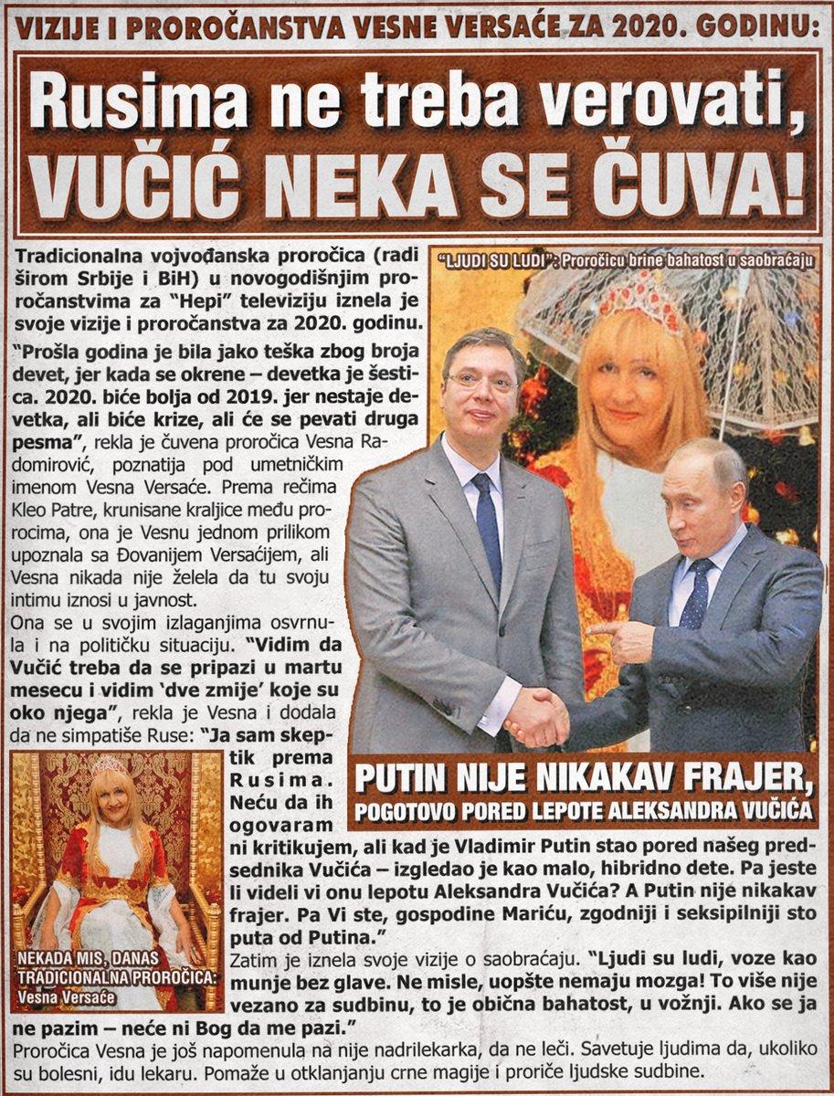 Rusima ne treba verovati, Vučić neka se čuva