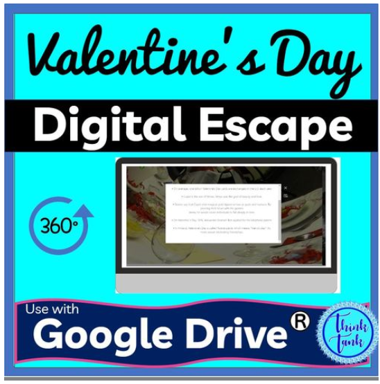 Awesome Digital Valentines Day Escape Room. ampeduplearning.com/valentines-day…
