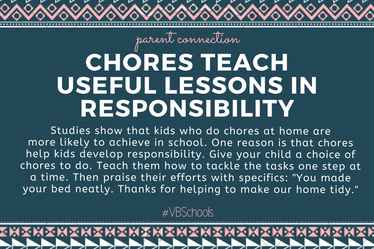 Parent Connection Tip of the Day: Chores teach useful lessons in responsibility. bit.ly/2ZZnb28