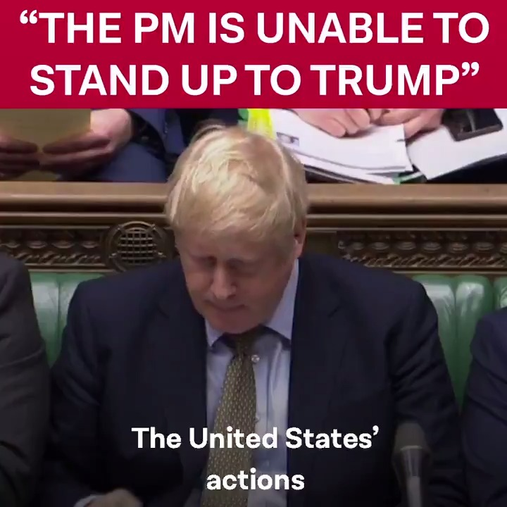 The Prime Minister is unable to stand up to President Trump because hes hitched his wagon to a trade deal with the United States. #PMQs