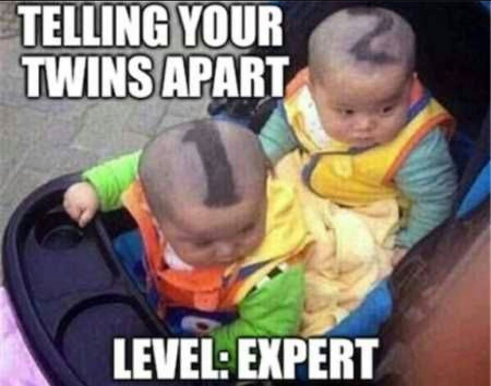 Cách đánh dấu trẻ sinh đôi