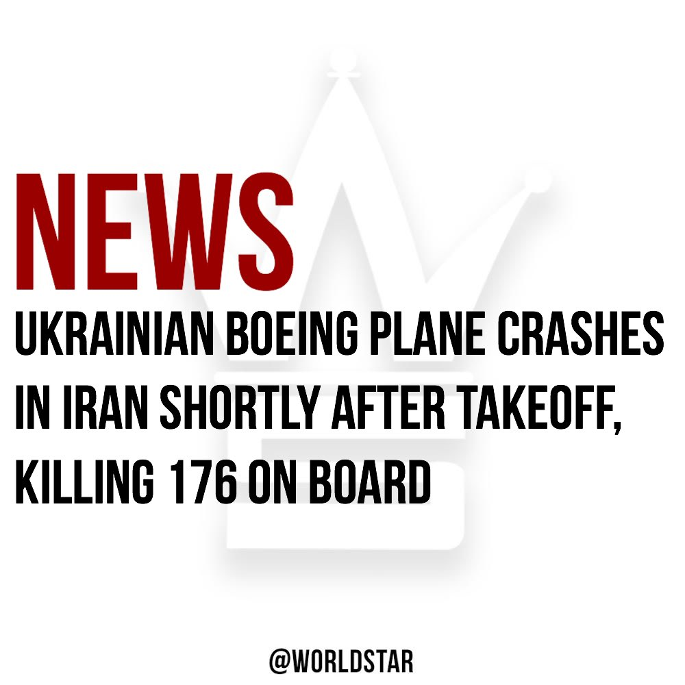 According to reports: The Boeing 737 jet, operated by Ukraine International Airlines, took off early on Wednesday en route to the #Ukrainian capital of Kiev with 167 passengers and 9 crew members on board. 82 #Iranians, 63 #Canadians, and 11 Ukrainians died in the crash! Via @CNN