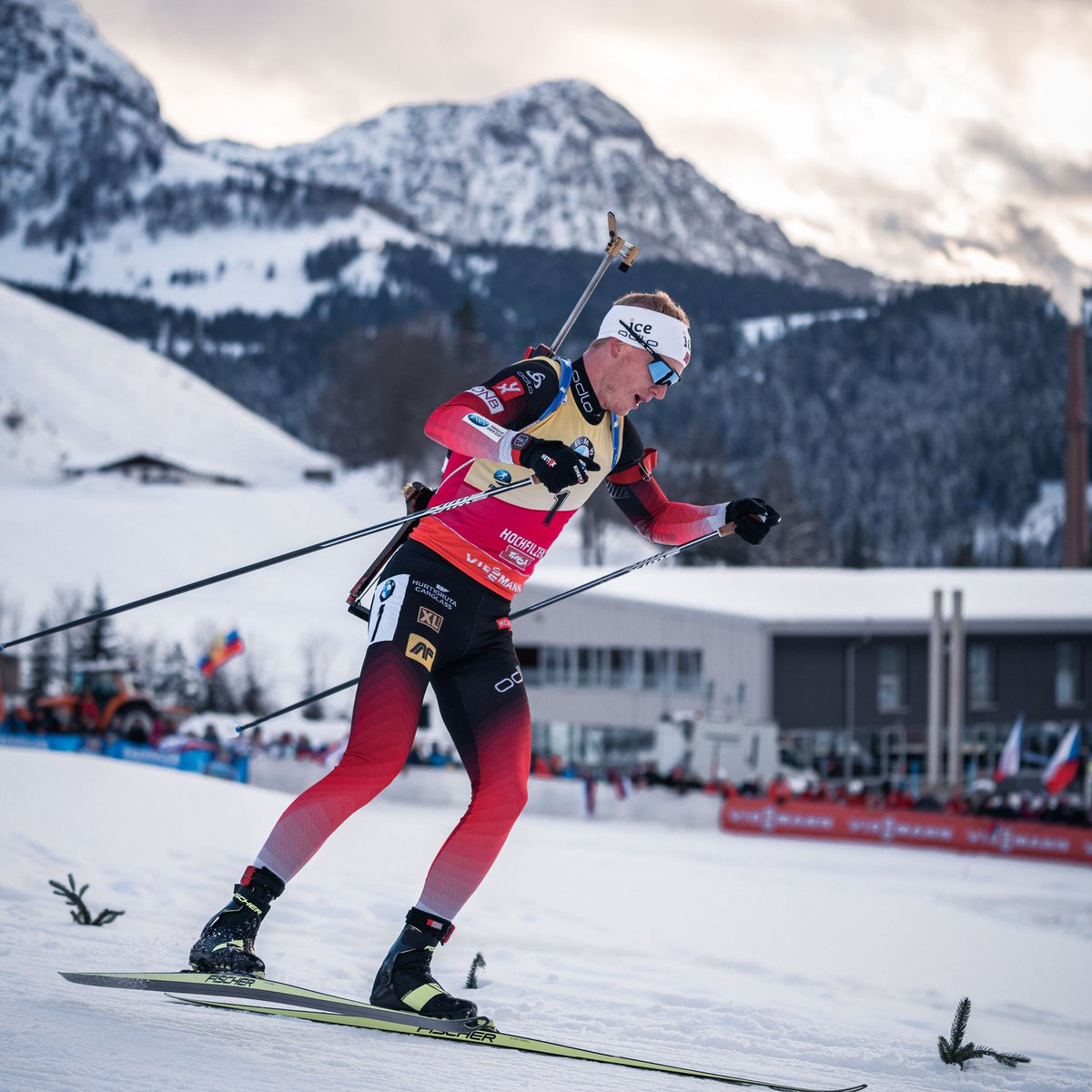 2018 Olympic champion, Johannes never stops walking up the world's #biathlon podiums, finishing the 2018-2019 season with a total of 5 Crystal Globes and no less than 16 individual race victories in the World Cup, the best season in biathlon history. #RichardMille
