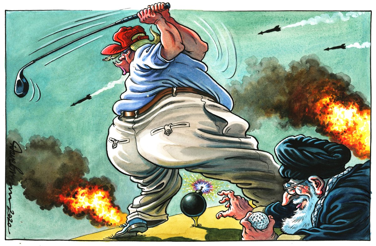 Иранский кризис в зарубежной карикатуре