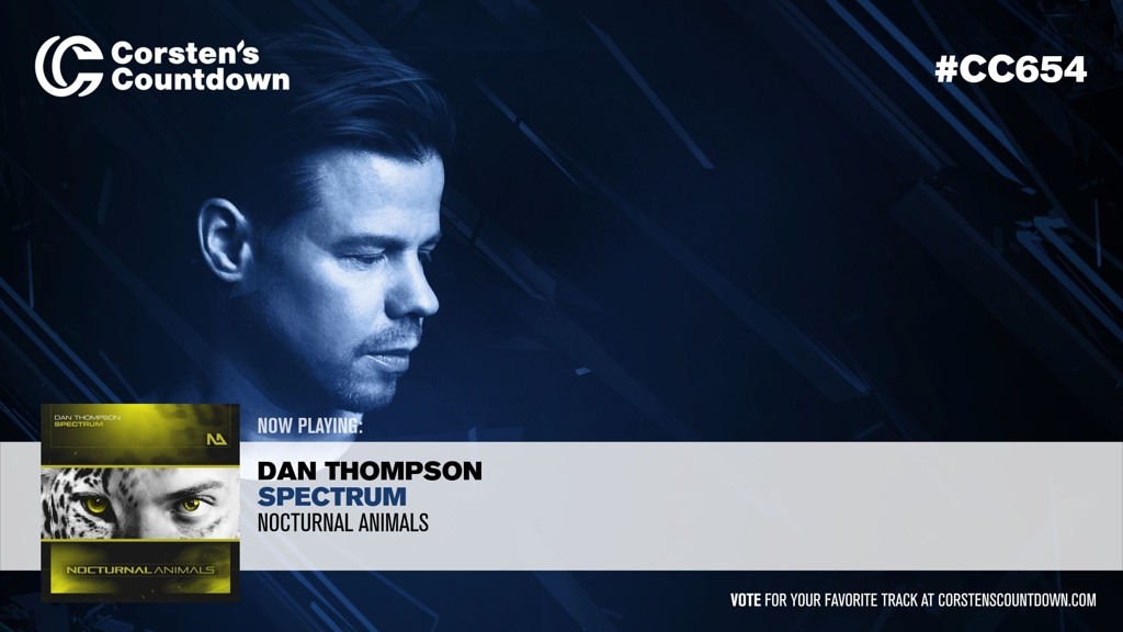 """08. Now playing; """"Spectrum"""", which is a new production from @DanThompsonDJ! [@NAMus_Official] #CC654 https://t.co/cdIZ1L0WID https://t.co/luIioZPcAL"""