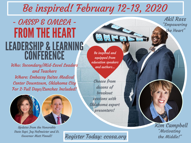 February 12-13...Don't miss out on this opportunity to be inspired! #oklaed REGISTER HERE: ccosa.org/index.php?even…
