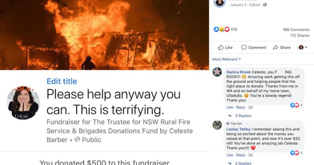 Comedian Celeste Barber raises $32 million for Australia wildfire relief, breaking Facebook's fundraising record https://cbsn.ws/2R2Mr3g