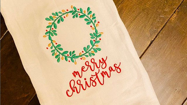 Michel made this fabulous towel using a design from our Farmhouse Christmas set.  https://t.co/EcVXEReu0b  #bunnycup #bunnycupembroidery #farmhousechristmas #kitchentowel #embroidery #embroiderydesign #machineembroidery #merrychristmas https://t.co/lyLTzNlx7x