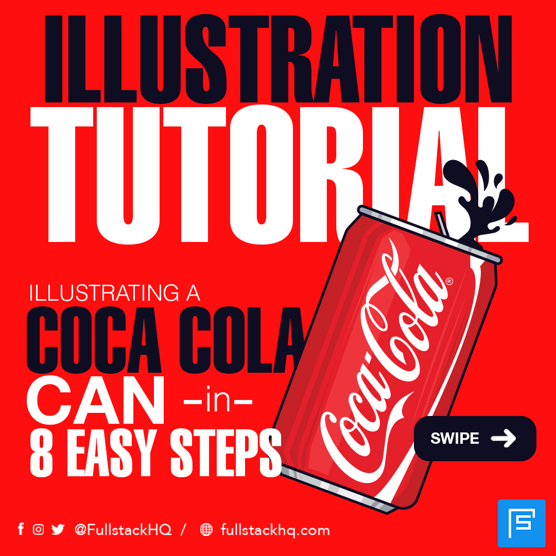 How to illustrate a Coca-Cola can step by step. Continuation at https://www.instagram.com/fullstackhq/  #illustrations #illustrationtips #designadvice #designui #ui #ux #mobile #mobileapp #graphic #graphicdesign #webdesign #dribbble #inspiration #uxdesign #uidesignpic.twitter.com/jeTNPOHdFd