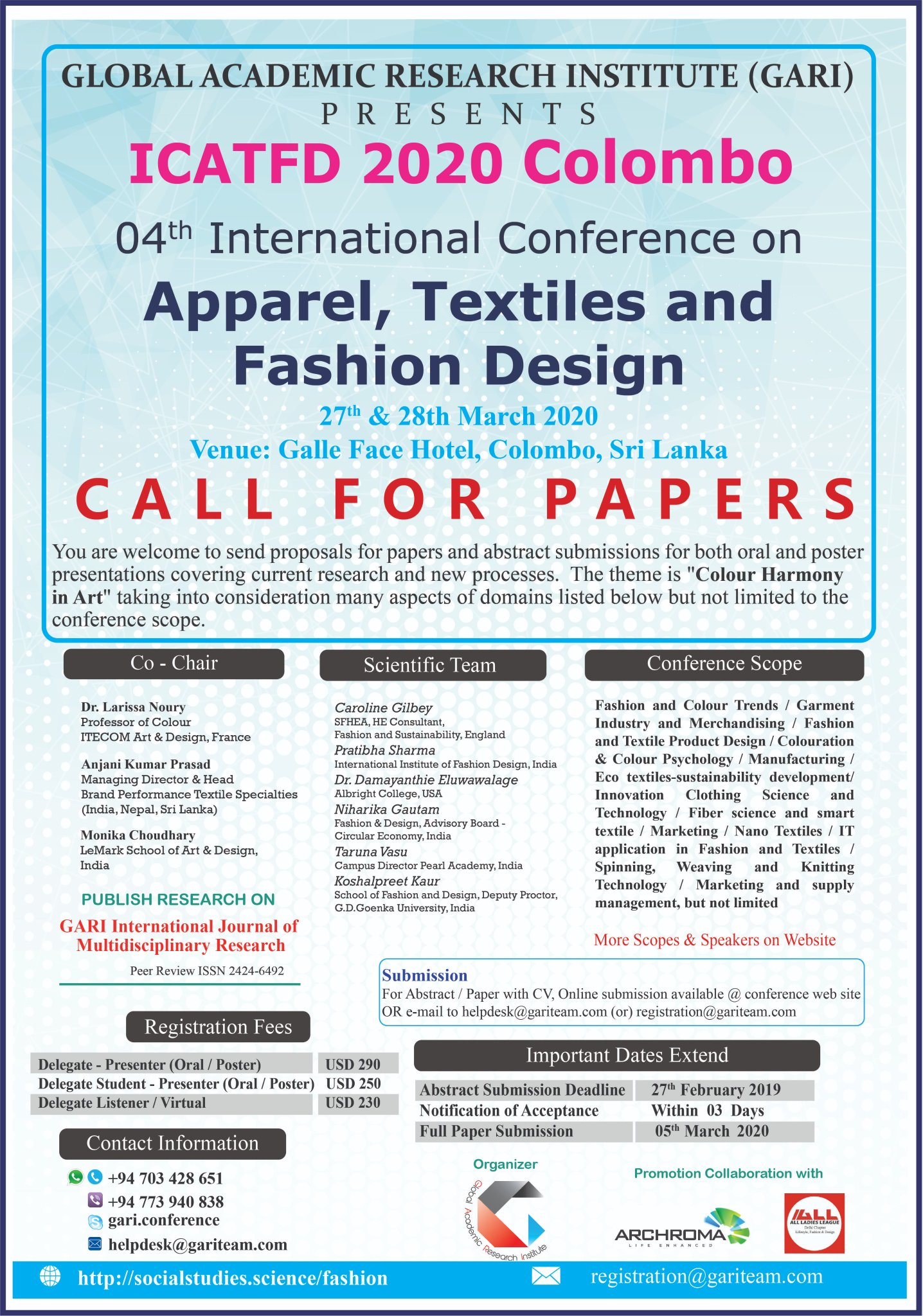 Gari Conference On Twitter Call For Papers Https T Co Gat9k4v41m Fashion Textileindustry Apparel Conference