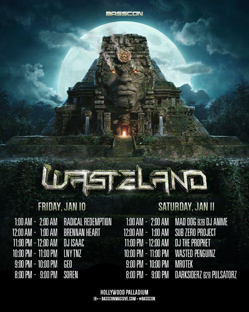 Wasteland 2020 schedule