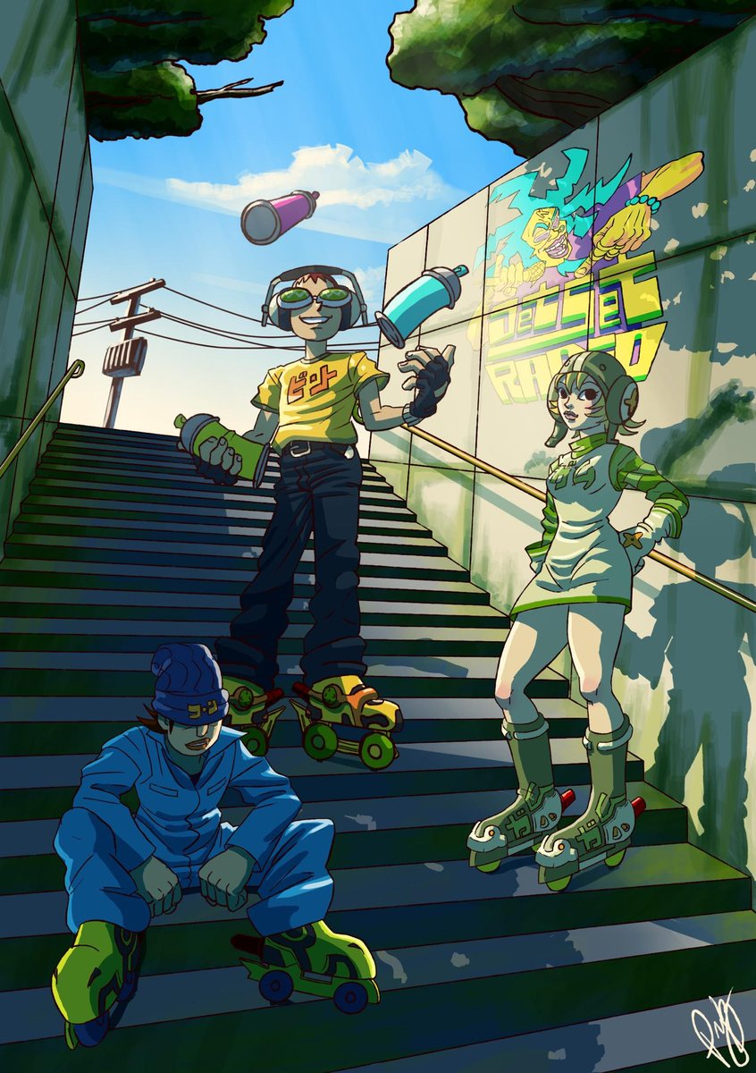 Hideki Naganuma 長沼 英樹 On Twitter Jet Set Radio Art By