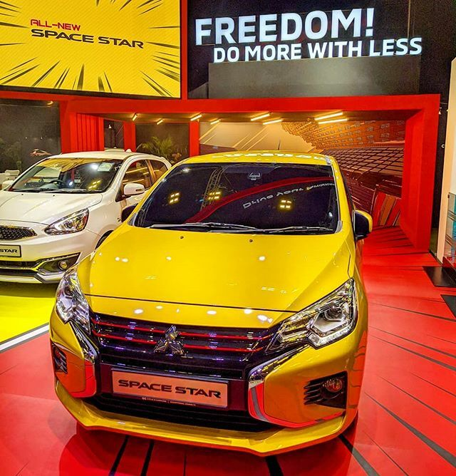 #sgMotorShow2020: #Mitsubishi launches new #SpaceStar - at the 15th #SingaporeMotorshow. 2 new colors: White diamond & Sand Yellow. Sporty 15-inch alloy wheels. Available in Singapore May 2020.  #tech4tea #ttm #sgMotorShow @sgMotorShow #t4tSGmotorShow #t4tSGmotorShow2020 #t4…pic.twitter.com/zObLuvti4l