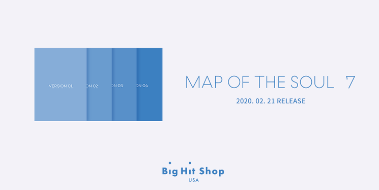 The long-awaited comeback album, #BTS Map Of The Soul: 7 is available for pre-order! 🎊 📅8 Jan, 6 PM ~ 20 Feb (KST) Pre-order on Big Hit Shop USA and get the exclusive gift with the album. 🎁 Shop on #BigHitShopUSA for cheaper & faster shipping! 👉 bit.ly/btsmapofthesou…