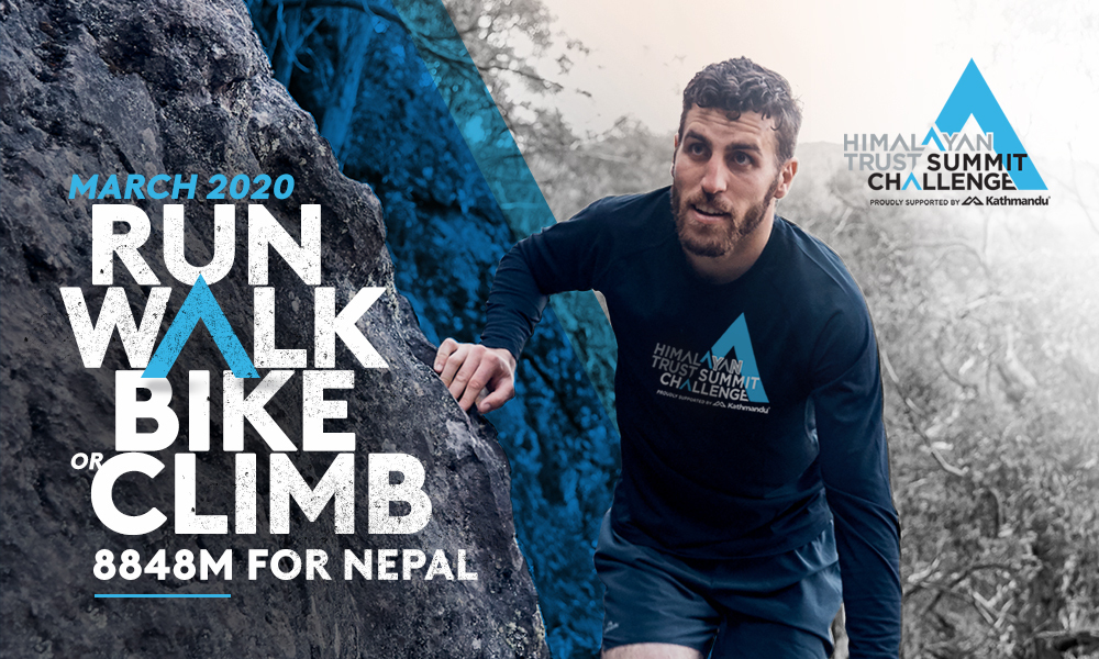 Could you climb the height of #Everest in one month? This March, we #challenge you to climb 8848m for #Nepal! Join the #himalayantrustsummitchallenge now at http://www.summitchallenge.org