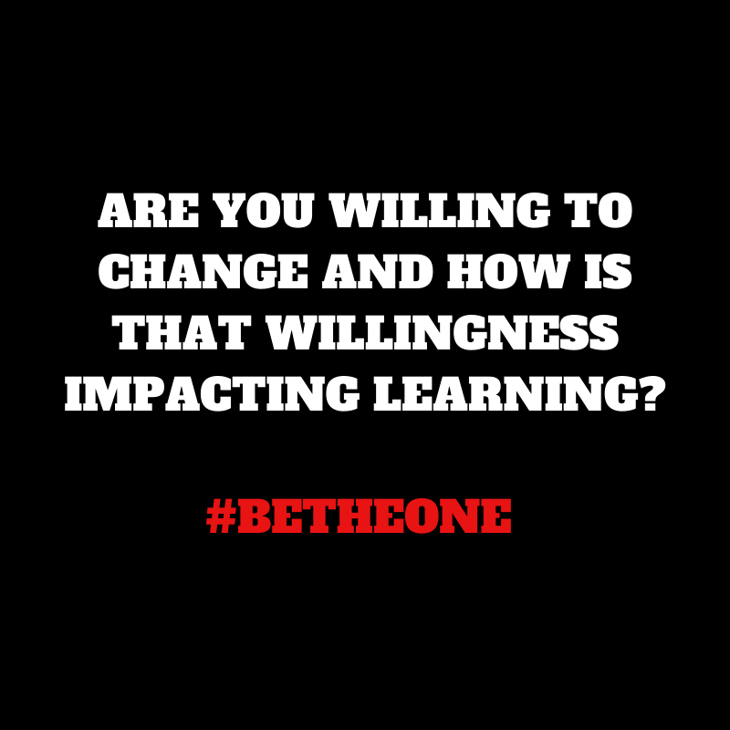 Are you? #BeTheOne