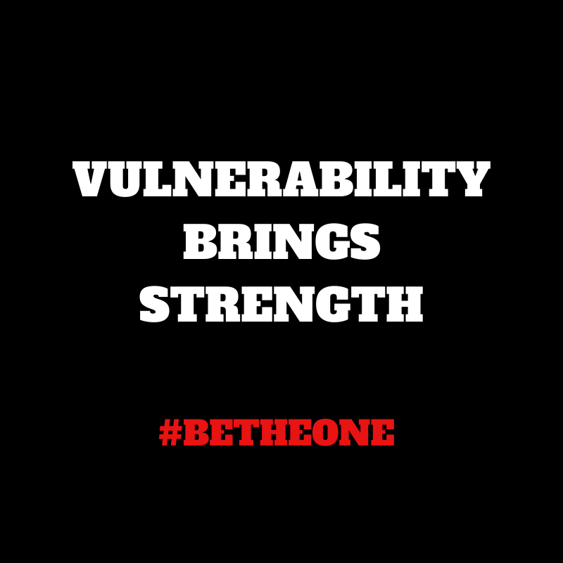 Vulnerability Brings Strength. #BeTheOne #Life #TLAP #Growth #Edchat #TeachBetter #MasteryChat