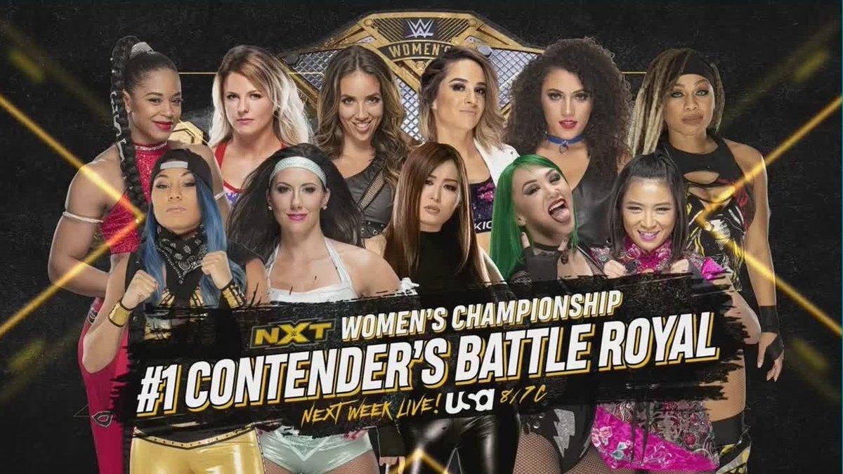 11-Woman Battle Royal To Determine Title Match, Gargano vs. Finn Balor