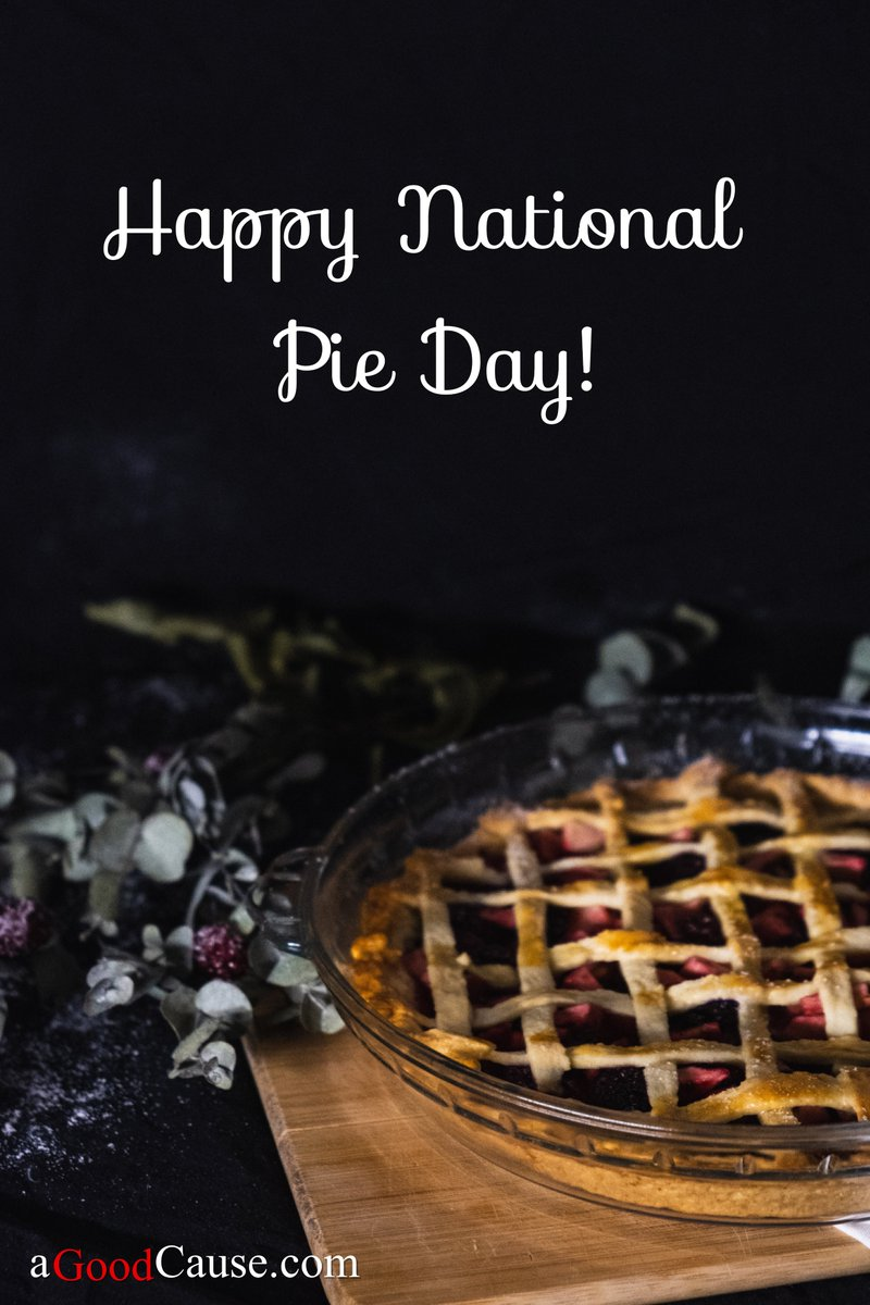 Happy National Pie Day! 🥧😋To celebrate: 1. Go to store2. Buy favorite kind of pie3. Bring it to a friend!4. Be happy and full of pie! #aGoodCause #NationalPieDay #bekind #giving #friendship